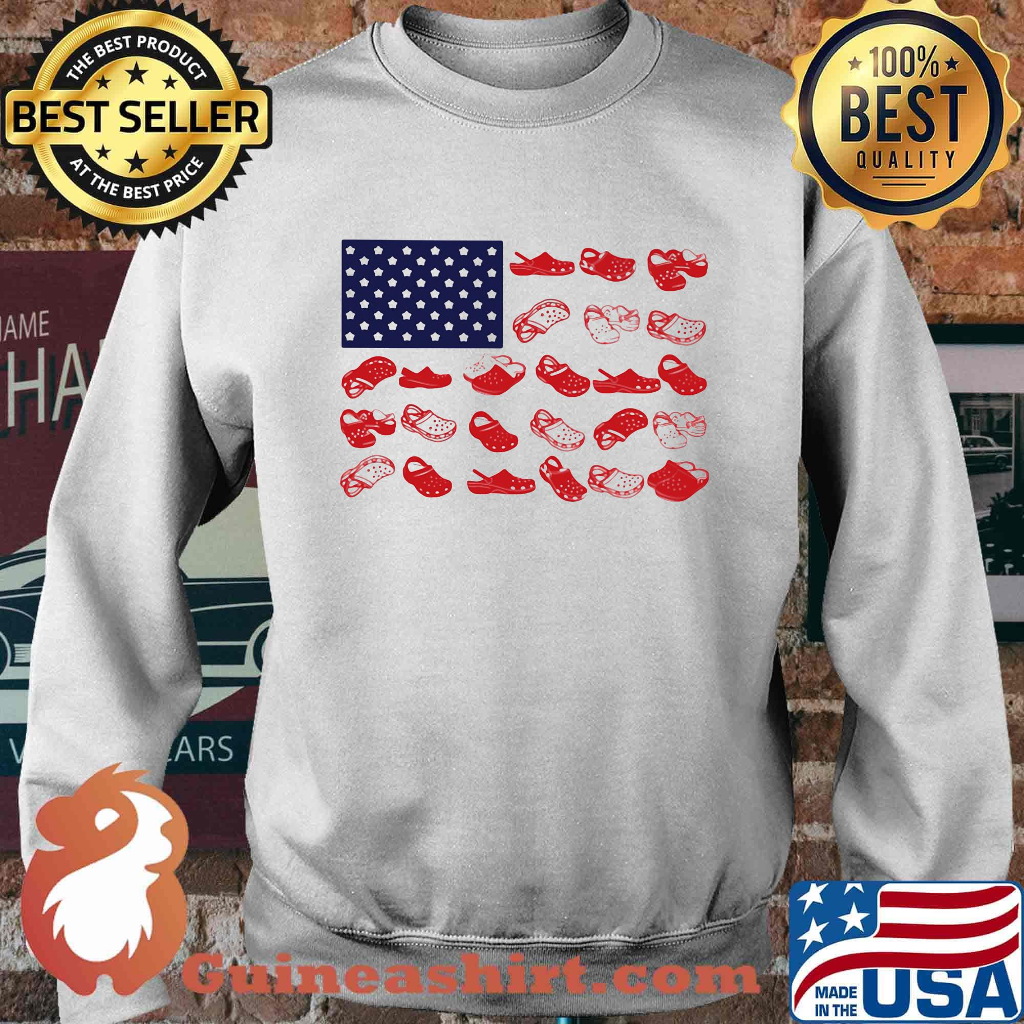 Crocs american flag independence day s Sweater