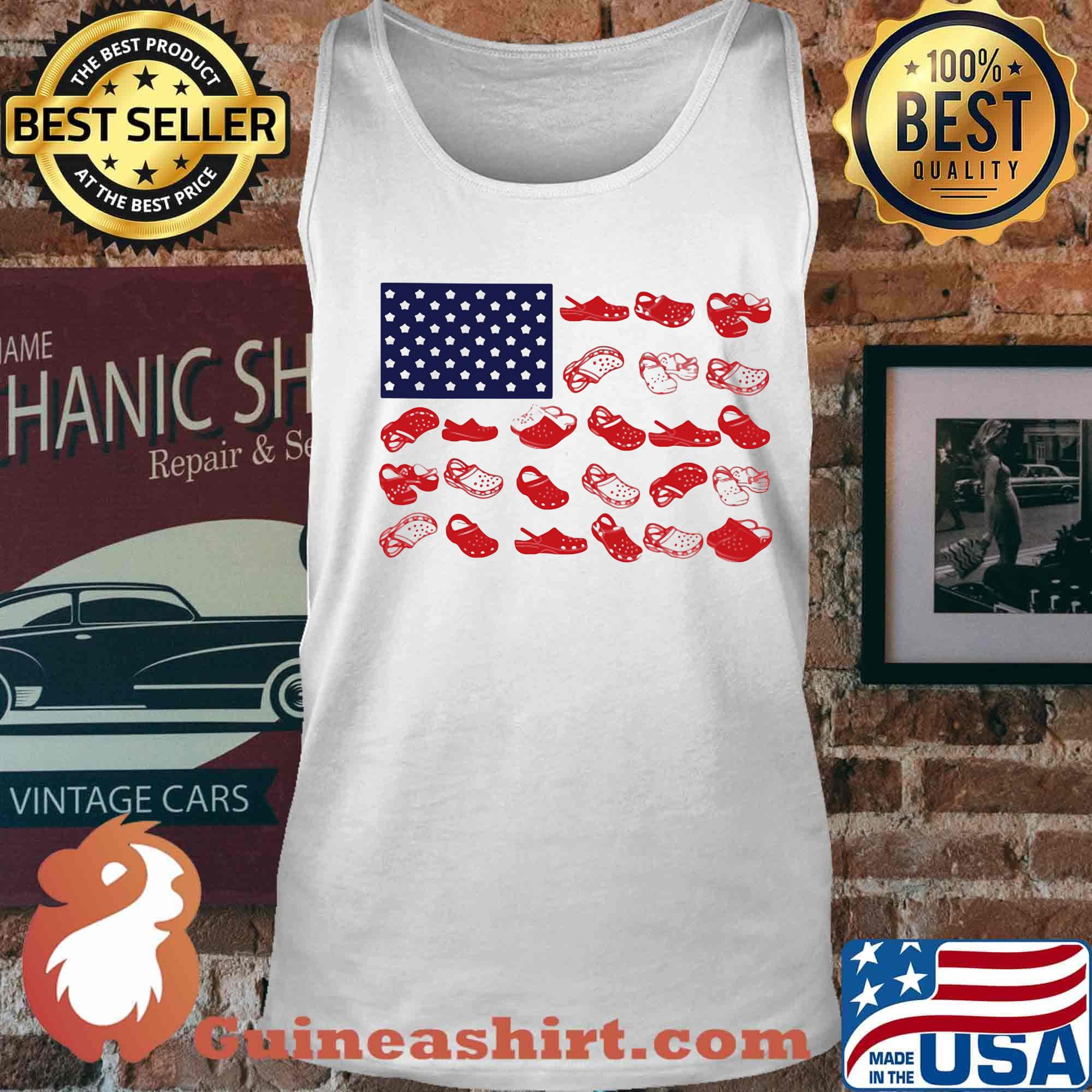 Crocs american flag independence day s Tank top