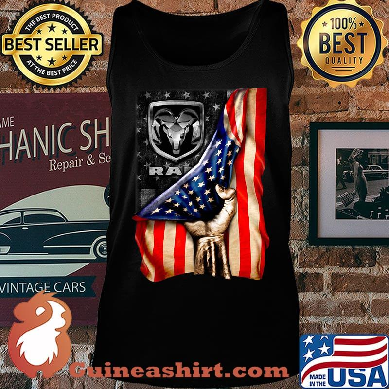 Ram trucks american flag independence day s Tank top