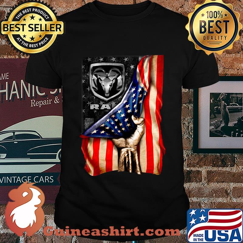 Ram trucks american flag independence day shirt