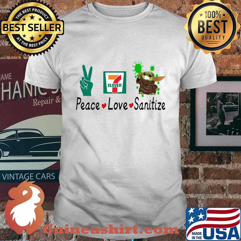 Peace love sanitize baby yoda covid-19 eleven shirt