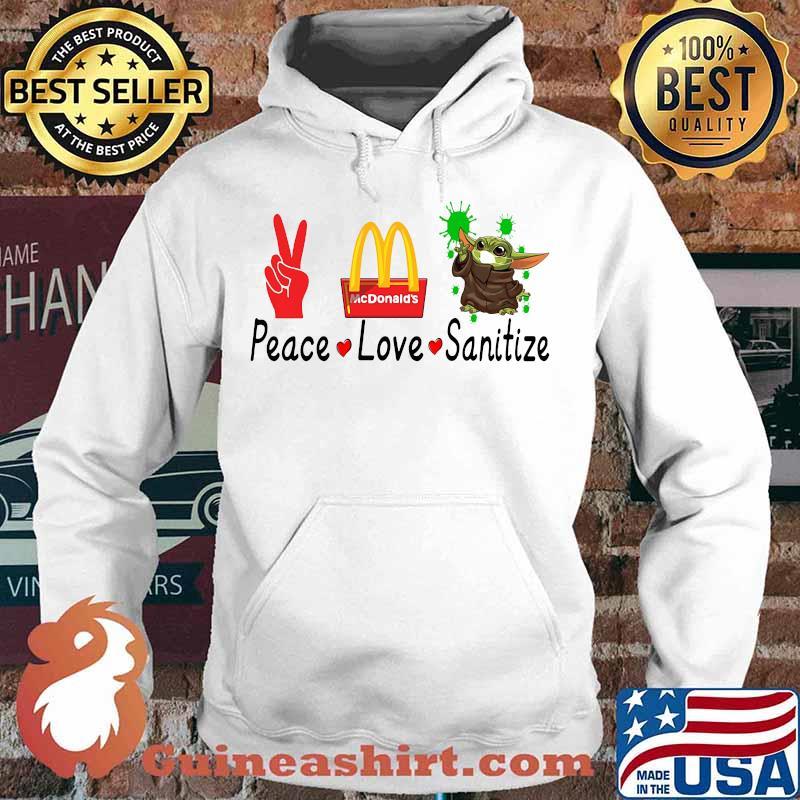 Peace love sanitize baby yoda covid-19 mcdonald's s Hoodie
