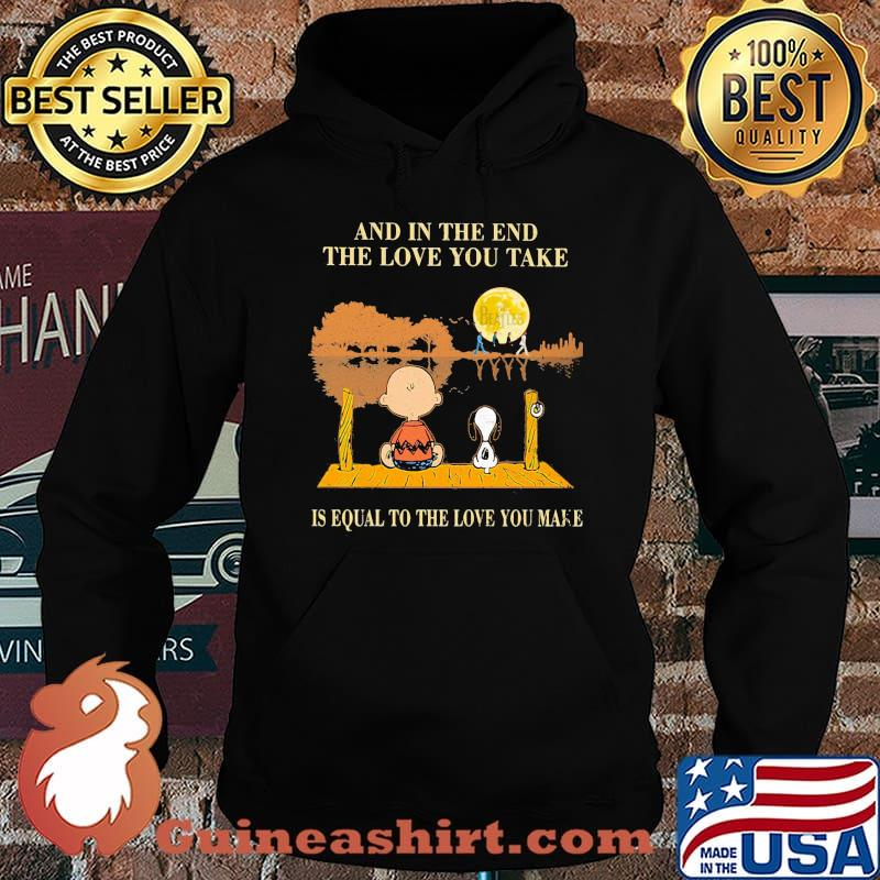 Charlie brown and snoopy the beatles and in the end the love you take is equal to the love you make s Hoodie