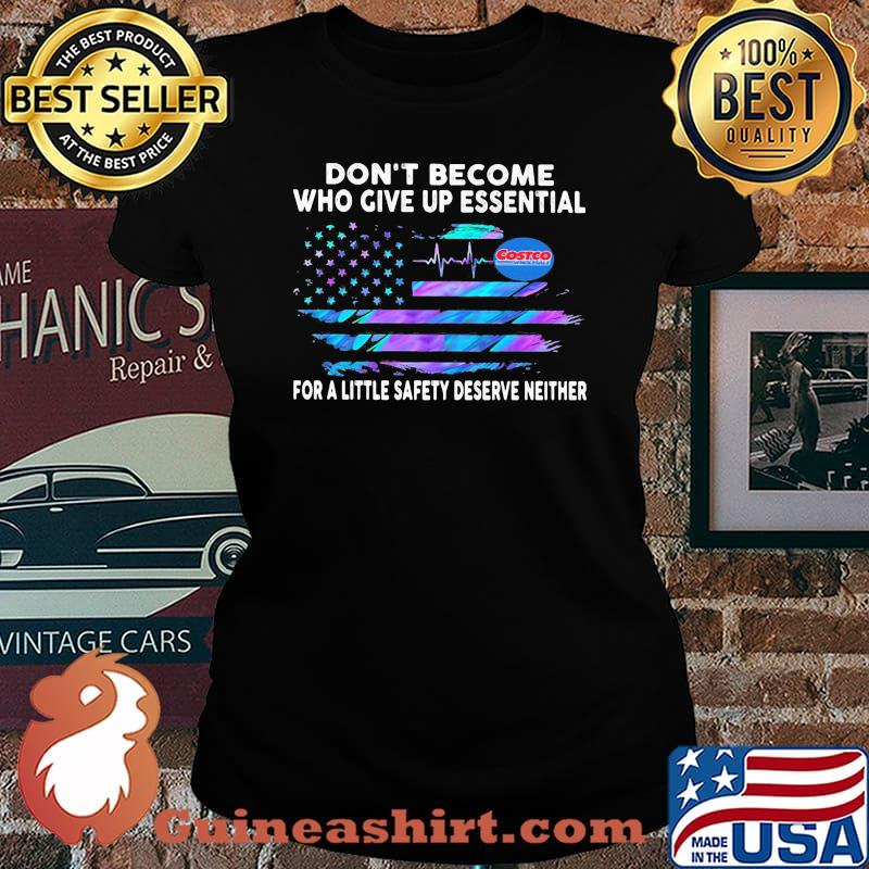 Don't become who give up essential for a little safety deserve neither costco wholesale logo american flag independence day s Laides tee