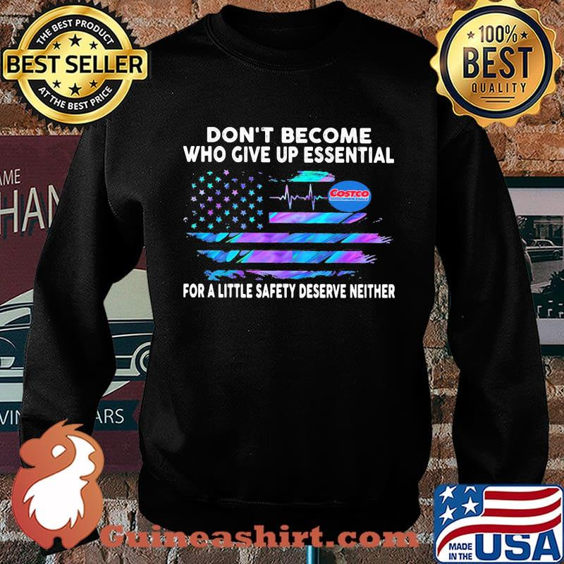 Don't become who give up essential for a little safety deserve neither costco wholesale logo american flag independence day s Sweater