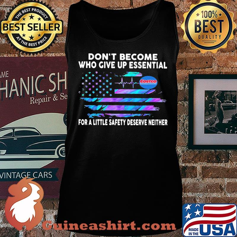 Don't become who give up essential for a little safety deserve neither costco wholesale logo american flag independence day s Tank top