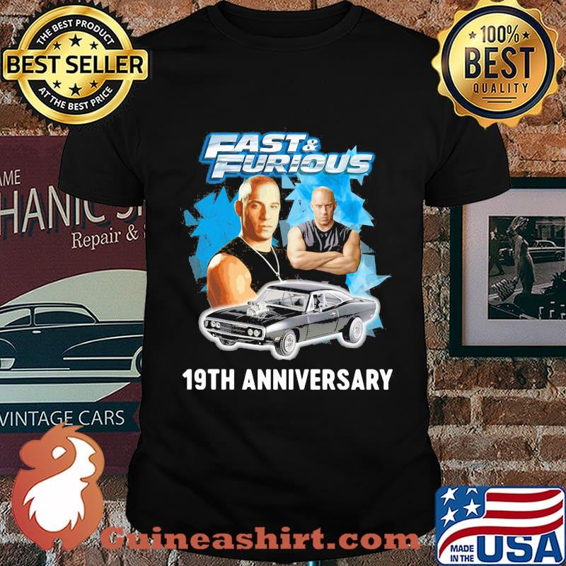 Fast and furious 19th anniversary car shirt