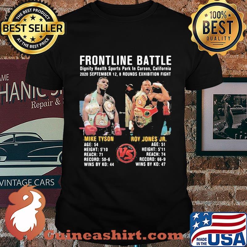 Frontline battle mike tyson vs roy jones jr shirt