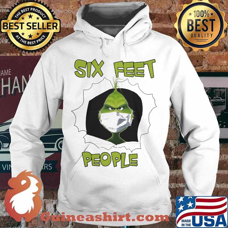 Grinch mask six feet people s Hoodie