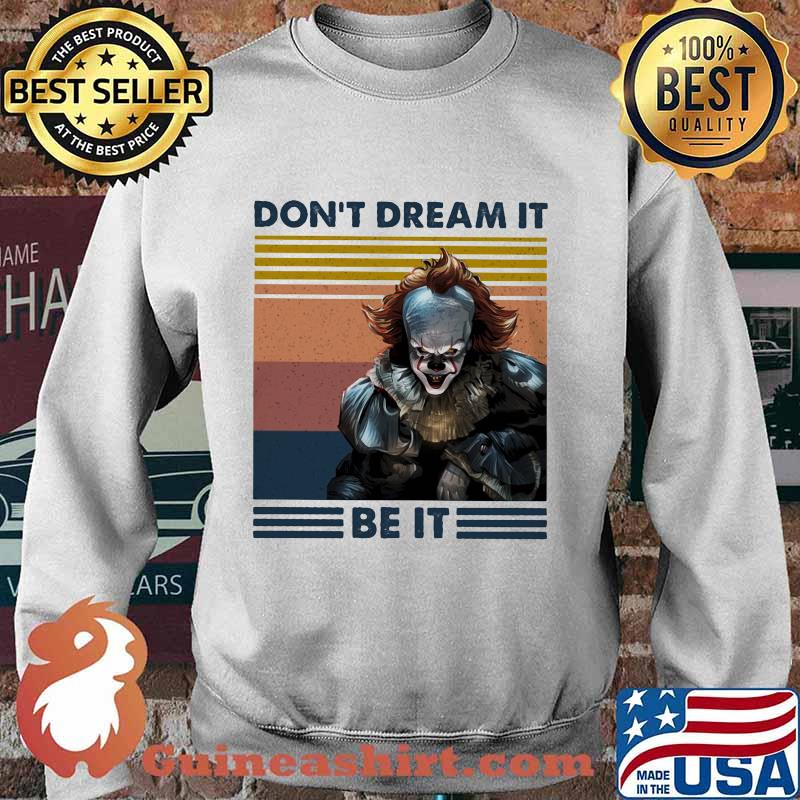 Halloween pennywise don't dream it be it vintage retro s Sweater