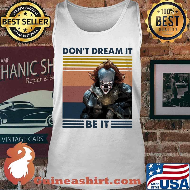 Halloween pennywise don't dream it be it vintage retro s Tank top