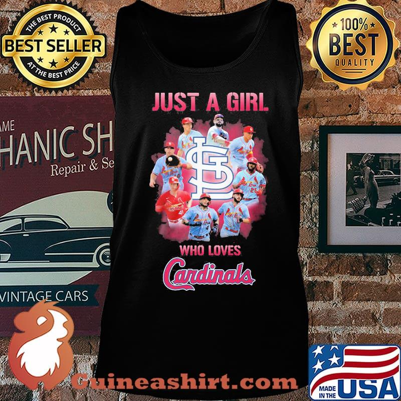 Just a girl who loves st. louis cardinals s Tank top