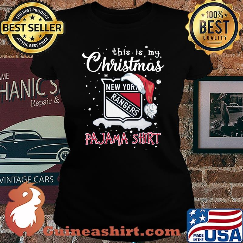 New york rangers this is my christmas pajama s Laides tee