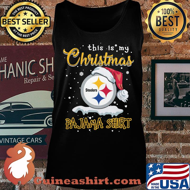 Pittsburgh steelers this is my christmas pajama s Tank top