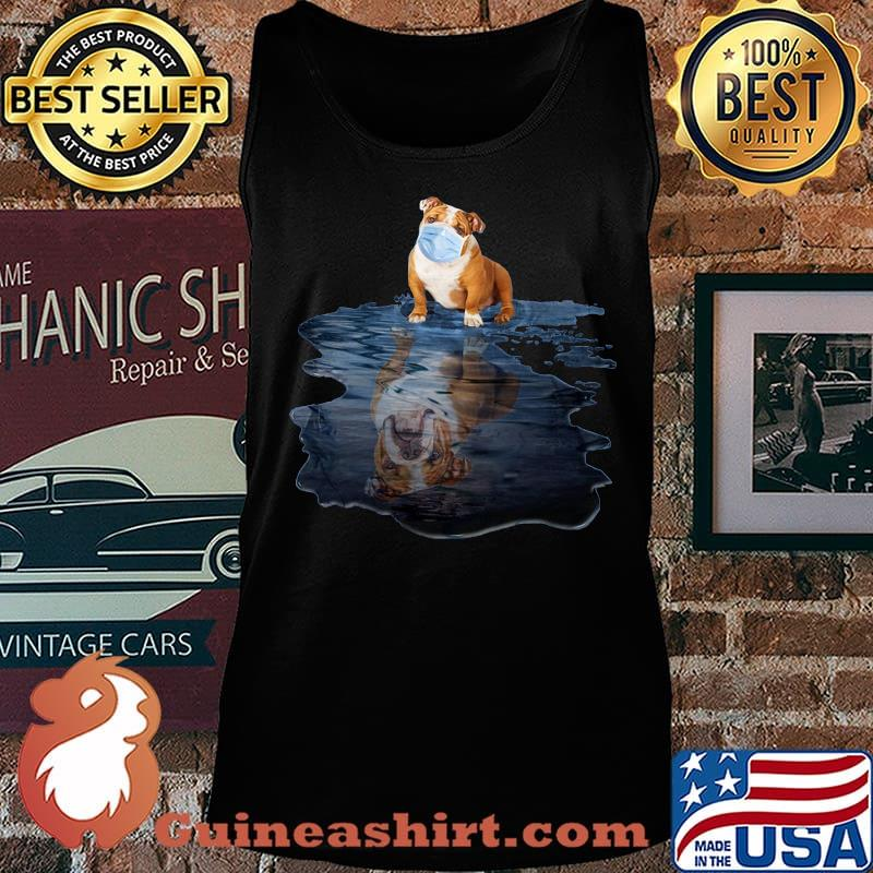 Pug wear mask water reflection s Tank top