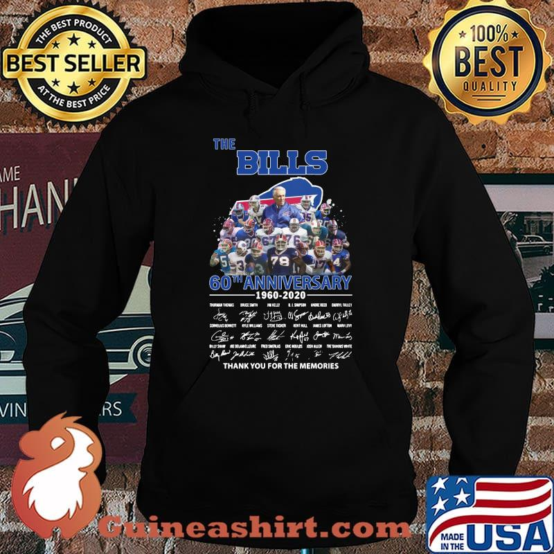 The buffalo bills 60th anniversary 1960 2020 thank you for the memories signatures s Hoodie