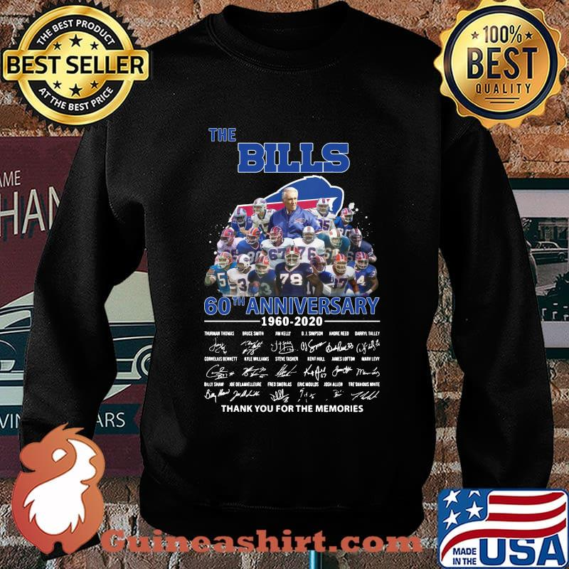 The buffalo bills 60th anniversary 1960 2020 thank you for the memories signatures s Sweater