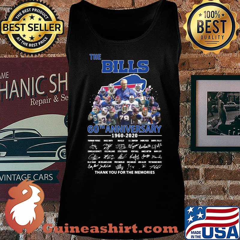 The buffalo bills 60th anniversary 1960 2020 thank you for the memories signatures s Tank top