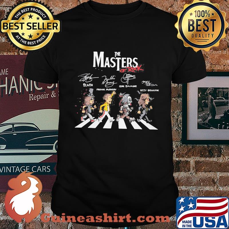 The masters of rock crossing the line signatures shirt