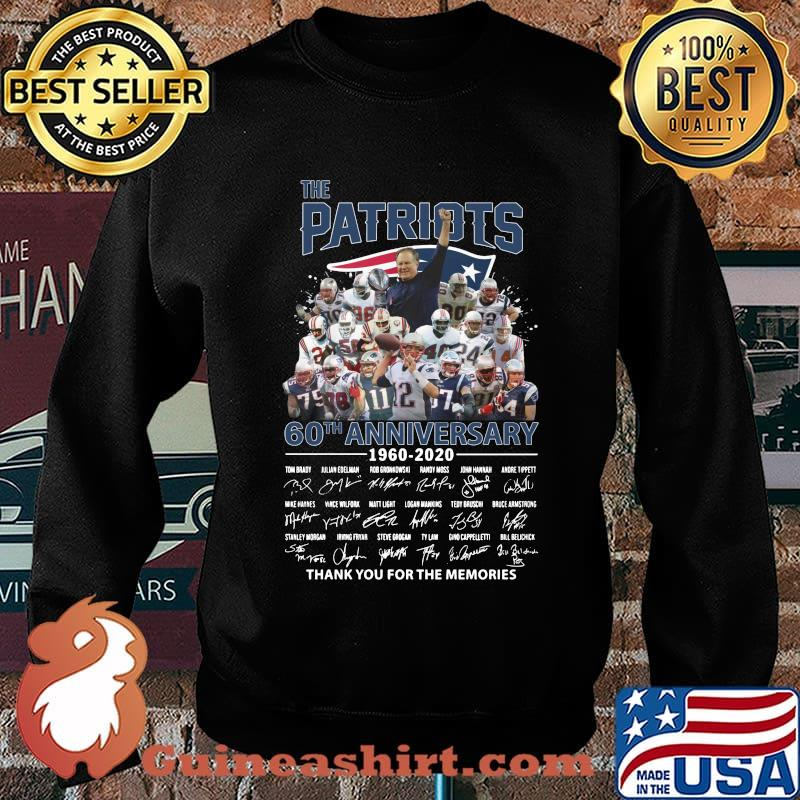 The new england patriots 60th anniversary 1960 2020 thank you for the memories signatures s Sweater