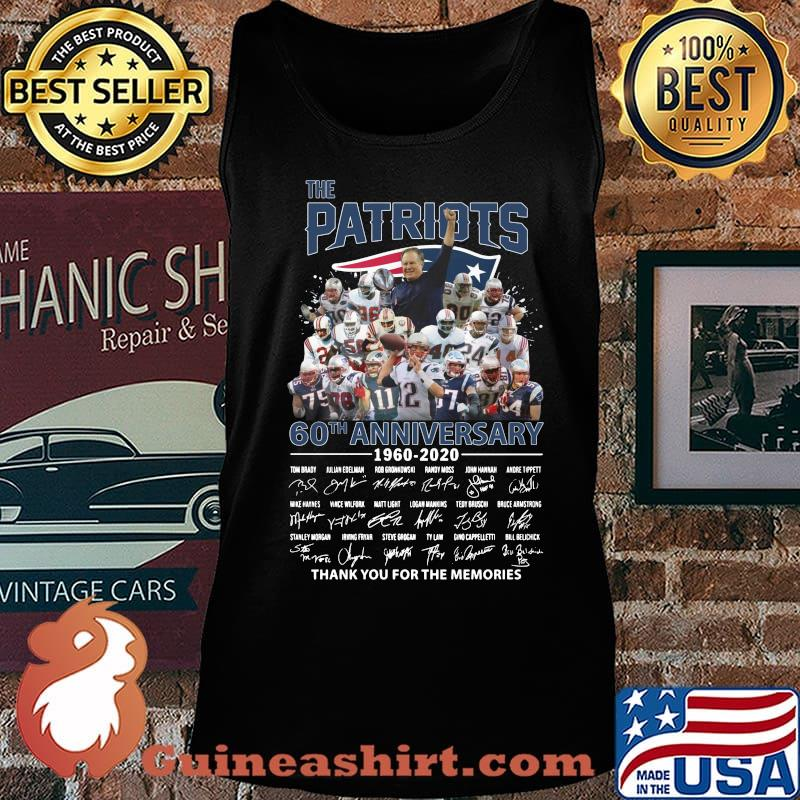 The new england patriots 60th anniversary 1960 2020 thank you for the memories signatures s Tank top