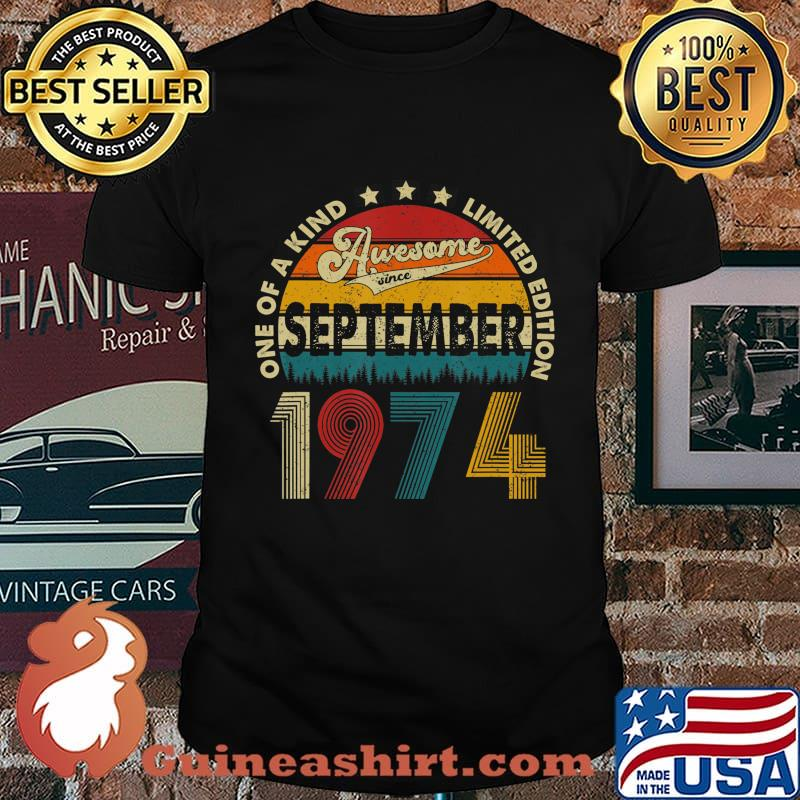 46 Years Old Gifts Vintage September 1974 46th Birthday T-Shirt