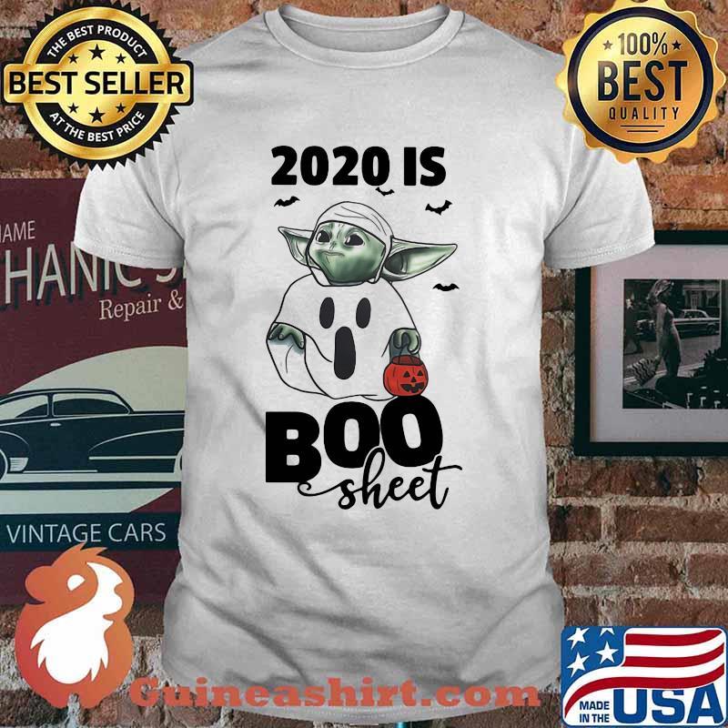 Baby Yoda 2020 Is Boo Sheet Happy Halloween Shirt Guineashirt