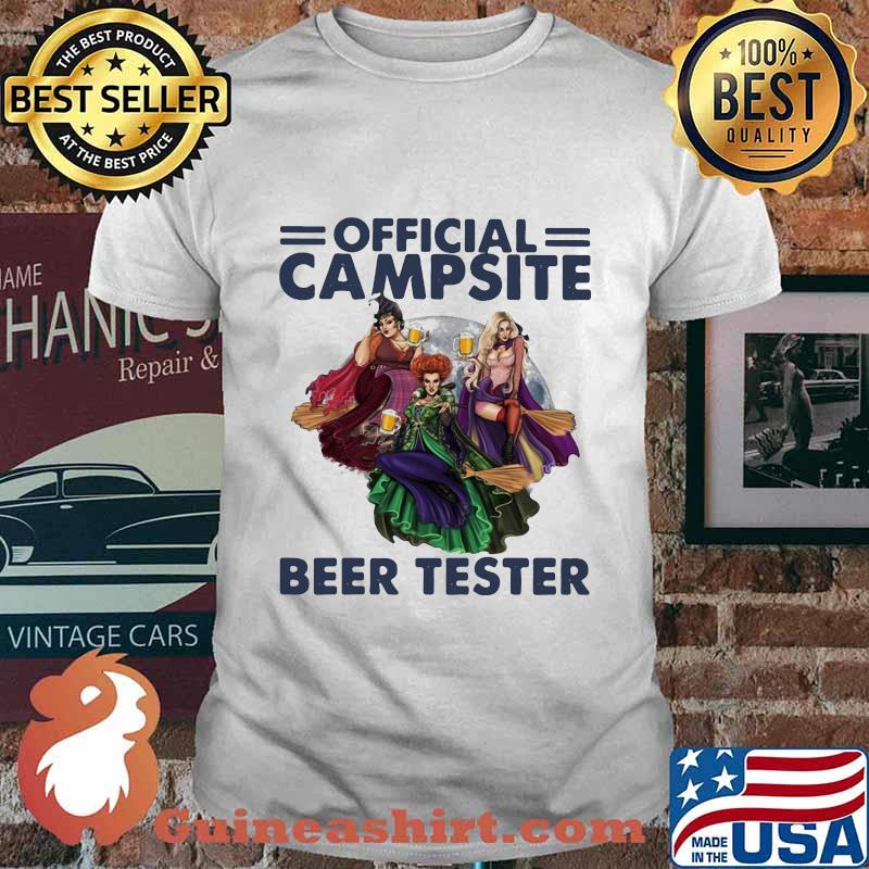 Hocus pocus official campsite beer taster shirt