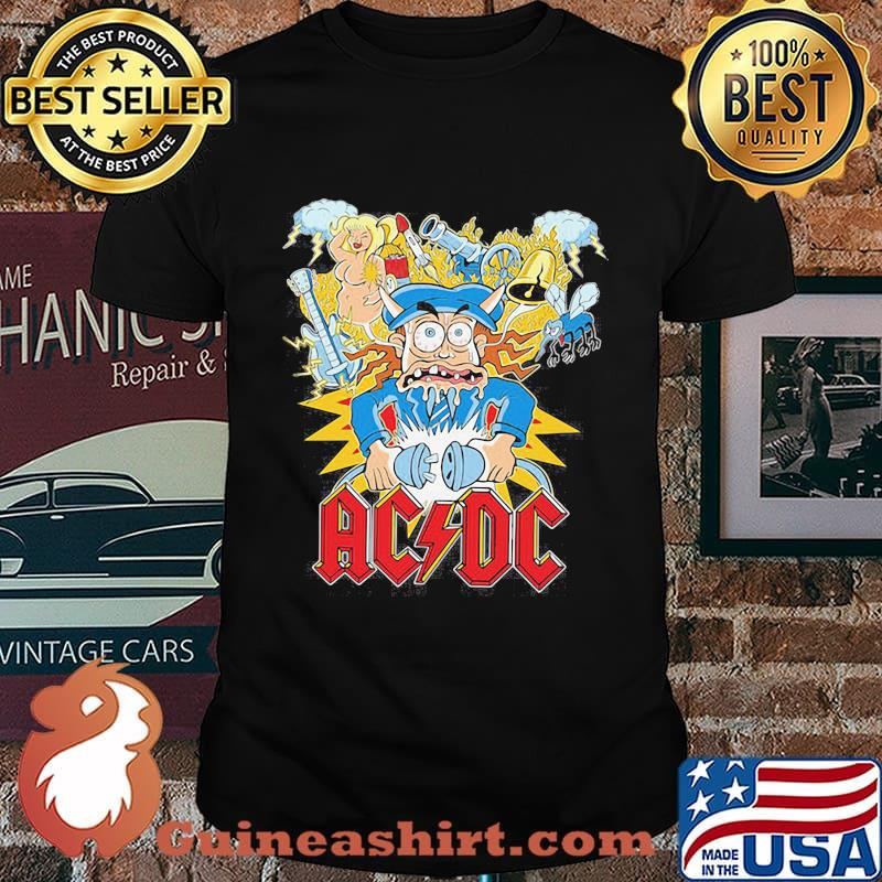 Acdc band hells bells satan vintage shirt