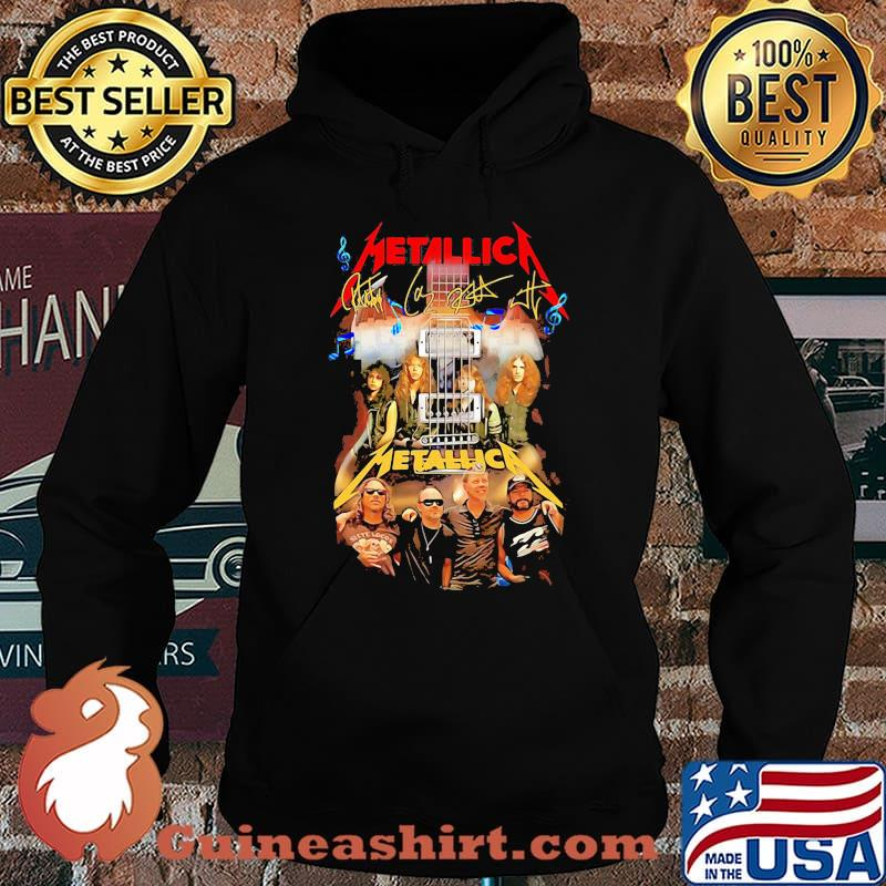 Guitar metallica band members signatures s Hoodie
