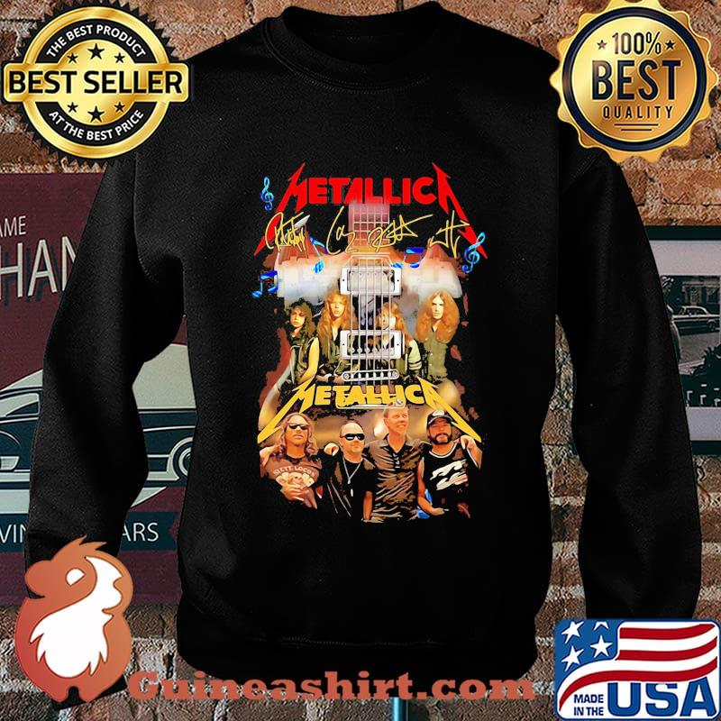 Guitar metallica band members signatures s Sweater