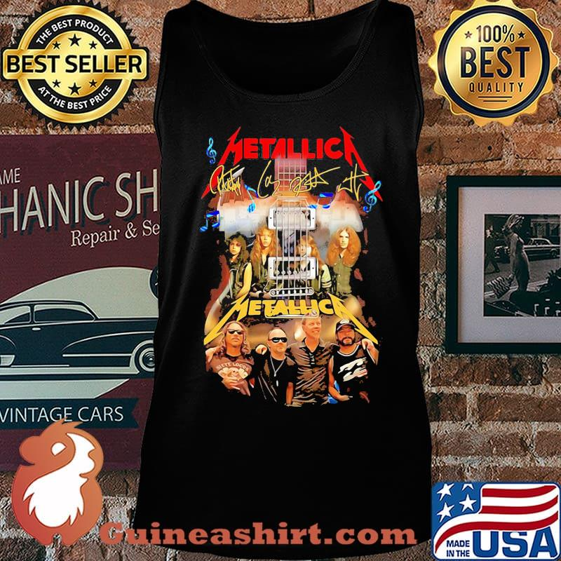 Guitar metallica band members signatures s Tank top