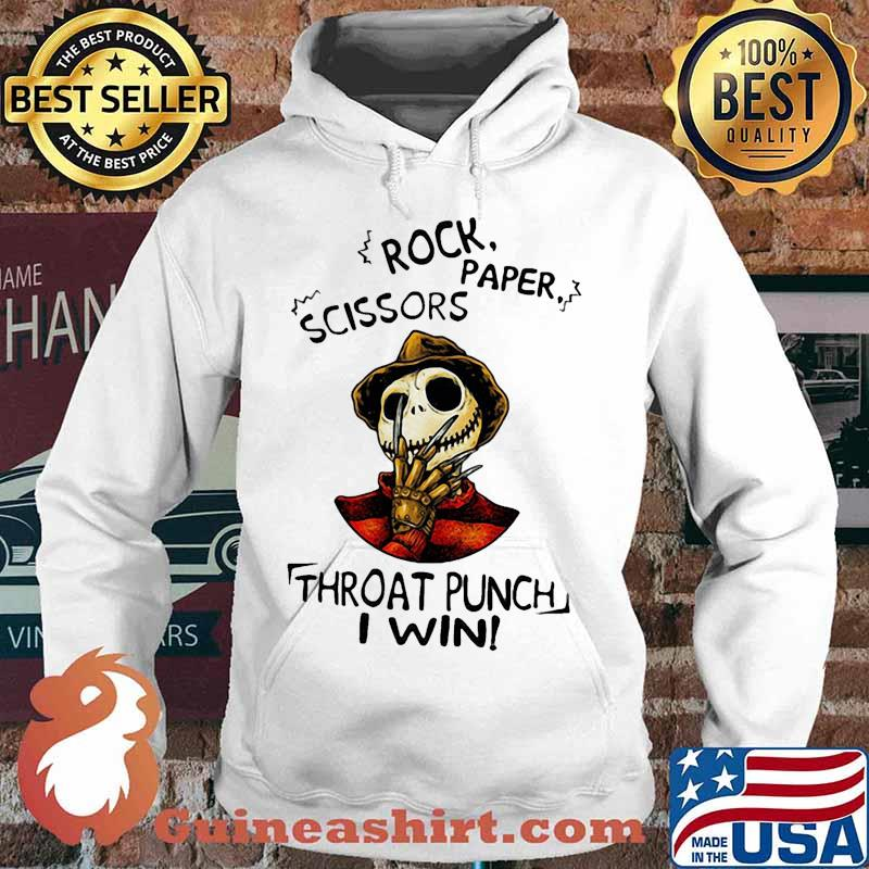 Halloween freddy krueger jack skellington rock paper scissors throat punch i win s Hoodie