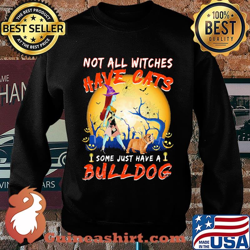 Halloween nightmare not all witches have cats some just have a bulldog s Sweater
