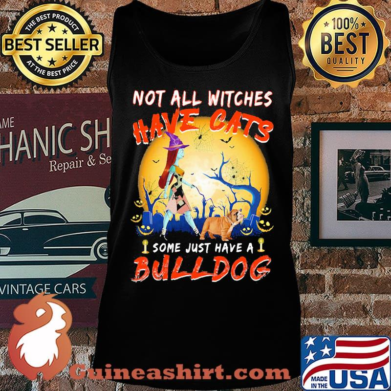 Halloween nightmare not all witches have cats some just have a bulldog s Tank top