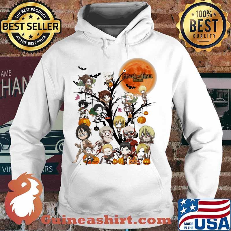Happy halloween tree attack on titan characters chibi moon s Hoodie