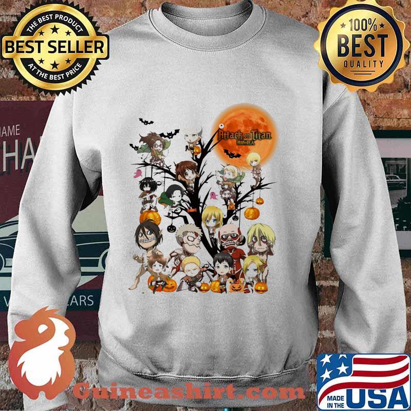 Happy halloween tree attack on titan characters chibi moon s Sweater