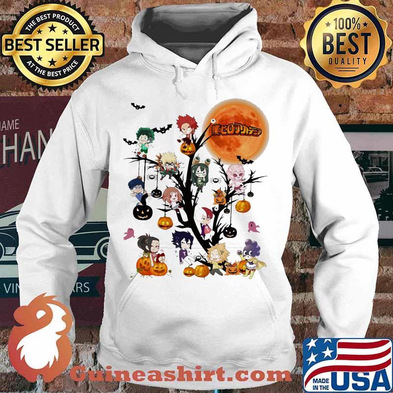 Happy halloween tree my hero characters chibi moon s Hoodie