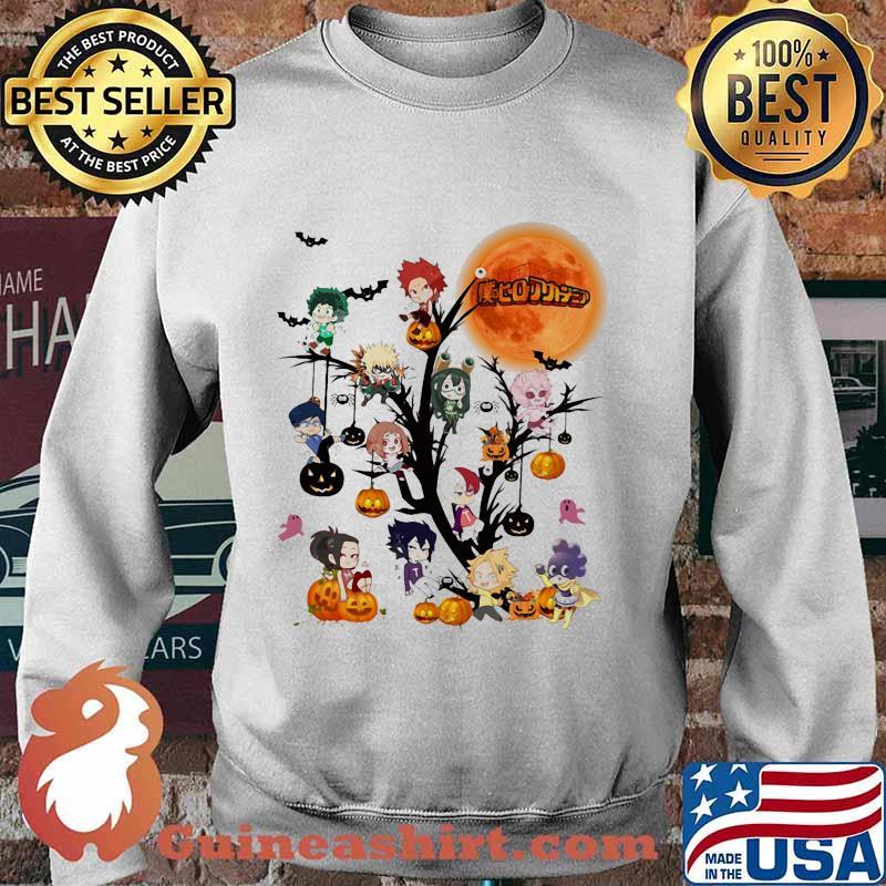 Happy halloween tree my hero characters chibi moon s Sweater