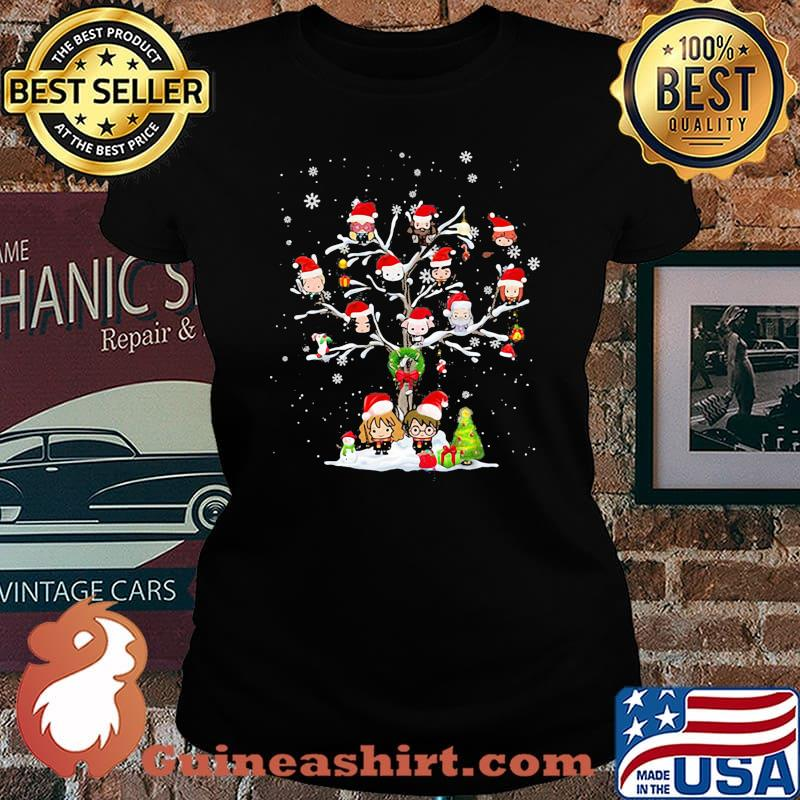 Harry potter characters cartoon christmas tree s Laides tee