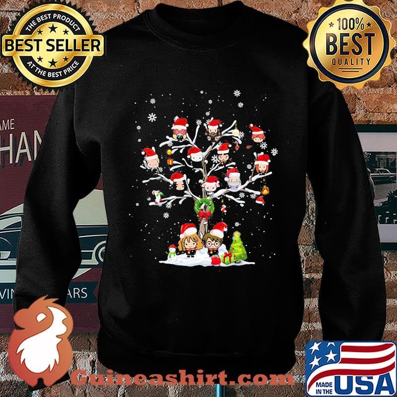 Harry potter characters cartoon christmas tree s Sweater