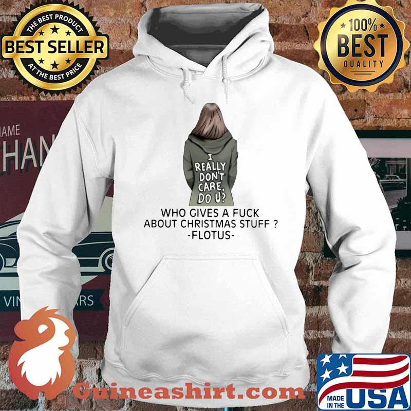 I really don't care do u who gives a fuck about christmas stuff ladies s Hoodie