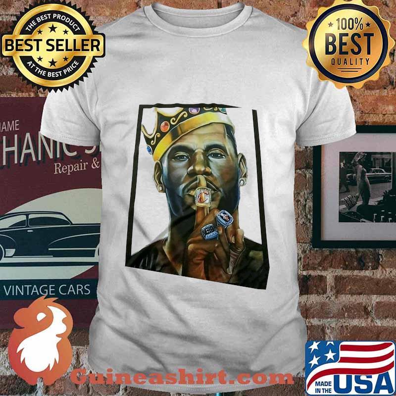 King lebron james los angeles lakers art shirt