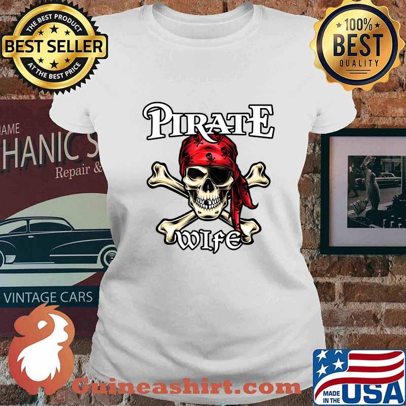 Pirate WIFE T-Shirt Family Member WIFES T-Shirt Ladies tee
