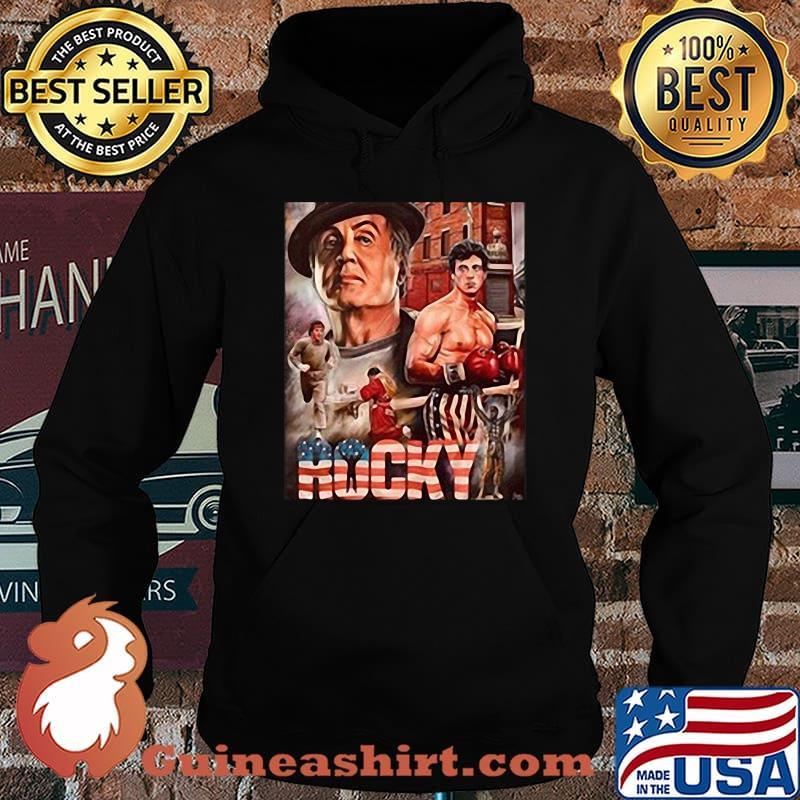 Rocky boxer american flag vintage s Hoodie
