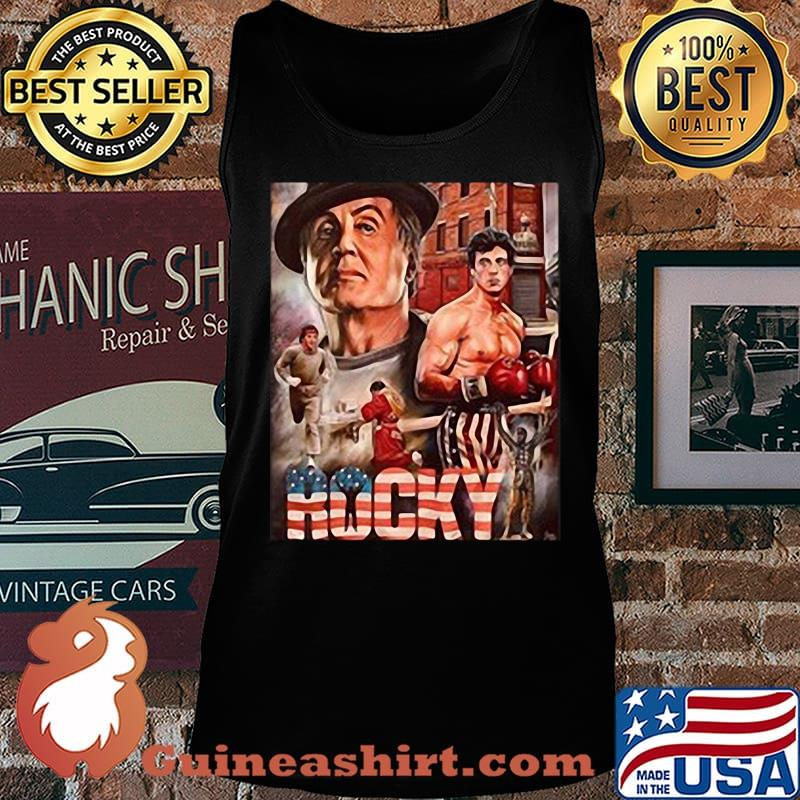 Rocky boxer american flag vintage s Tank top