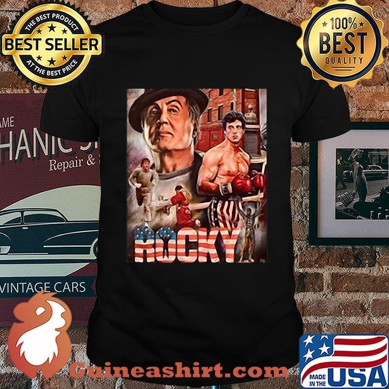 Rocky boxer american flag vintage shirt