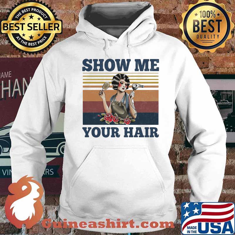 Show me your hair ladies flowers vintage s Hoodie