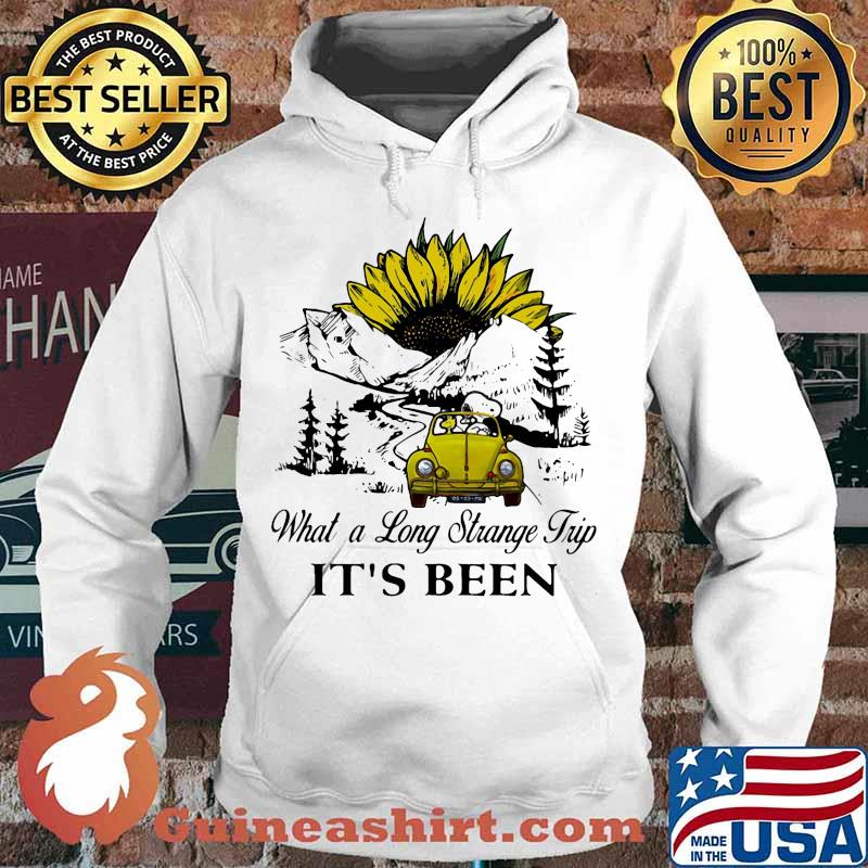 Snoopy and woodstock riding car what a long strange trip it's been sunflower s Hoodie