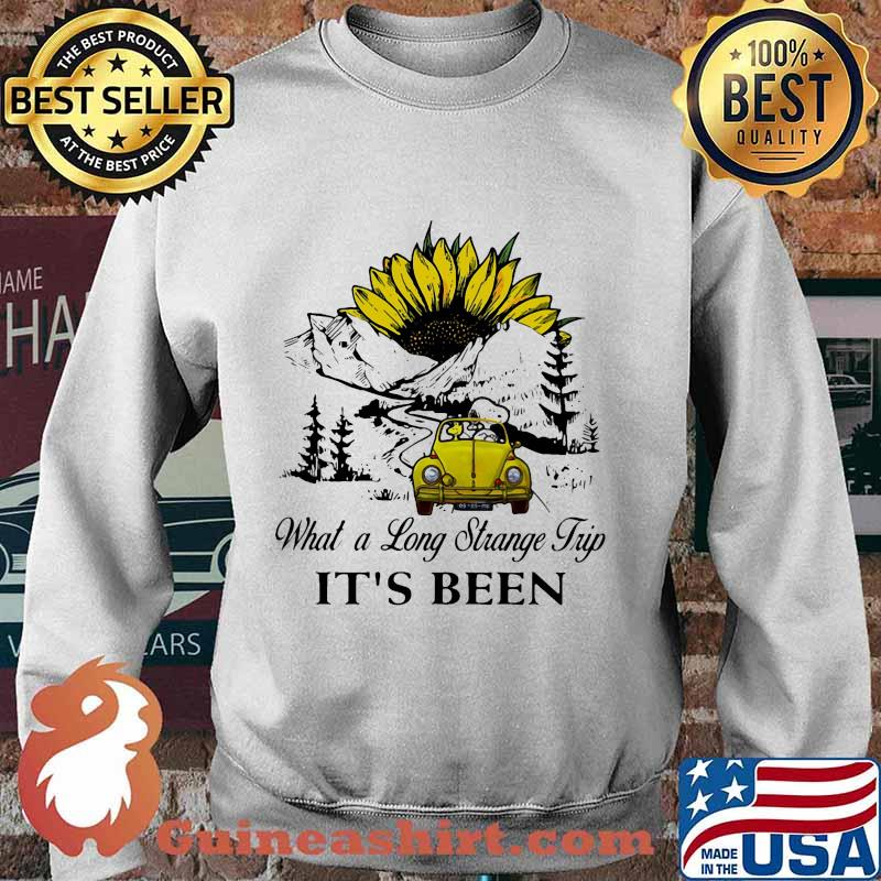 Snoopy and woodstock riding car what a long strange trip it's been sunflower s Sweater